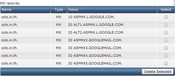 MX Google Apps